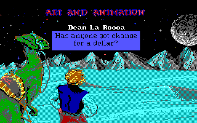 Art and Animation: Dean La Rocca - Has anyone got change for a dollar?