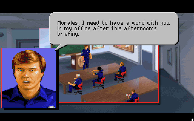Morales, I need to have a word with you in my office after this afternoon's briefing.