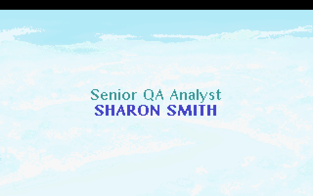 Senior QA Analyst: Sharon Smith.
