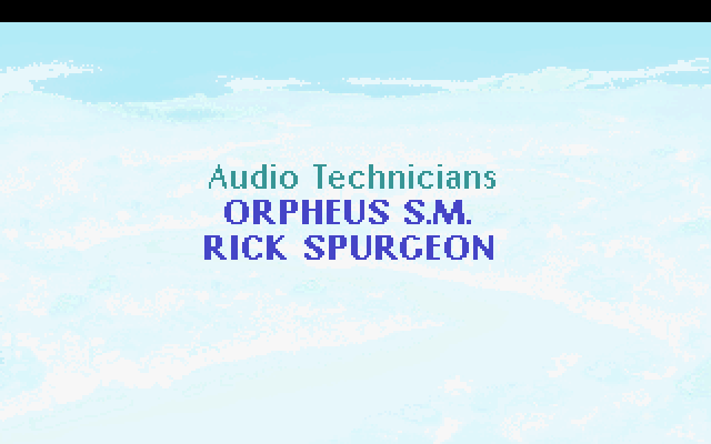 Audio Technicians: Orpheus S.M., Rick Spurgeon.