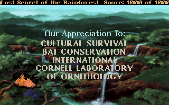Our Appreciation To: Cultural Survival Bat Conservation International Cornell Laboratory of Ornithology.