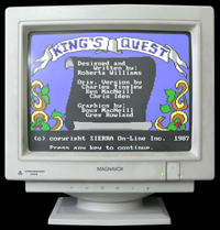 Click to view screenshot wallpapers of King's Quest 1 AGI