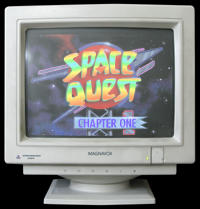 Click to view screenshot wallpapers of Space Quest 1 VGA