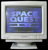 Click to view screenshot wallpapers of Space Quest 4 CD